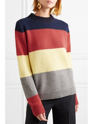 Chinti and Parker sombrero striped alpaca and wool-blend sweater