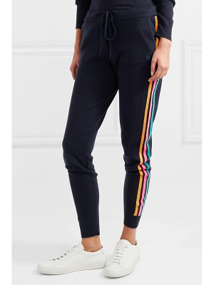 Chinti and Parker striped cashmere and wool-blend track pants