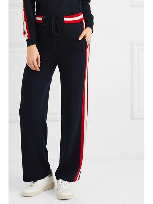 Chinti and Parker trapeze striped cashmere track pants