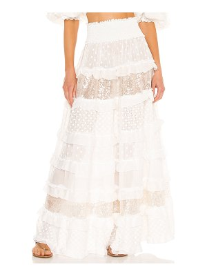 CHIO ruffle and embroidered skirt