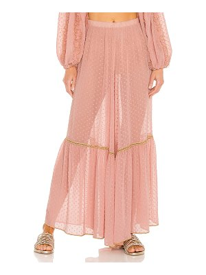 CHIO wide leg embroidered pants