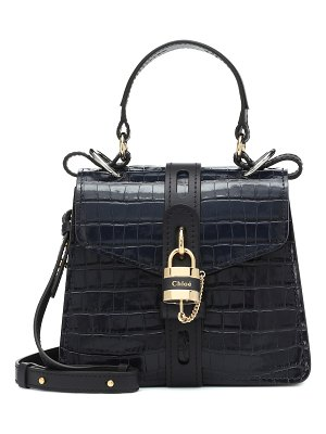 Chloe aby croc-effect leather shoulder bag