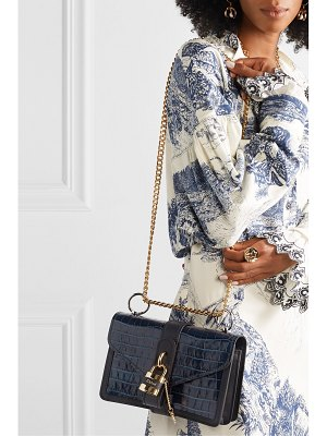 Chloe aby chain croc-effect leather shoulder bag