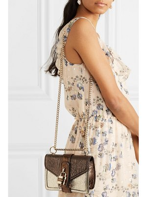 Chloe aby chain mini metallic color-block textured-leather shoulder bag