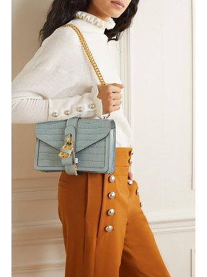 Chloe aby chain small croc-effect leather shoulder bag