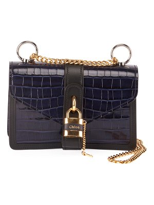 Chloe Aby Croco Chain Shoulder Bag