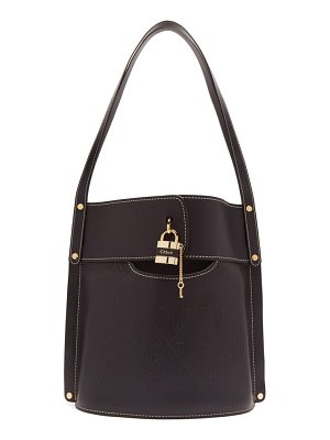 Chloe aby large leather bucket bag