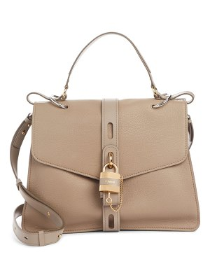 Chloe aby large leather shoulder bag