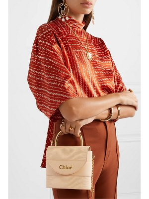Chloe aby lock lizard-effect and smooth leather tote