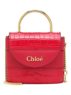 Chloe aby lock small leather shoulder bag