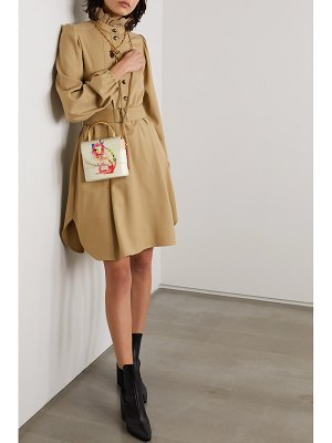 Chloe aby lock small printed leather shoulder bag