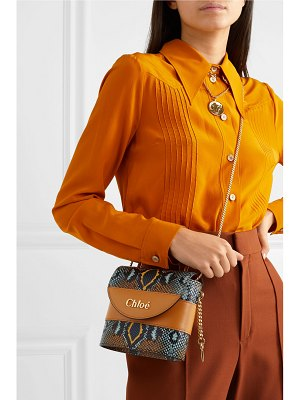 Chloe aby lock small snake-effect leather shoulder bag