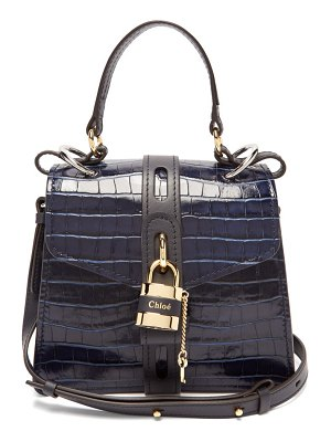 Chloe aby small crocodile effect leather shoulder bag