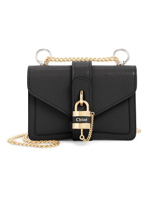 Chloe aby mini leather shoulder bag