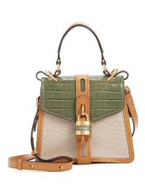 Chloe aby small day canvas shoulder bag