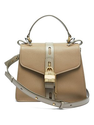 Chloe aby lock medium leather shoulder bag