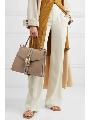 Chloe aby smooth and textured-leather shoulder bag