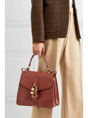 Chloe aby textured-leather tote