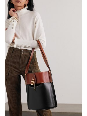 Chloe aby two-tone leather tote