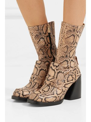 Chloe adelie python-effect leather ankle boots