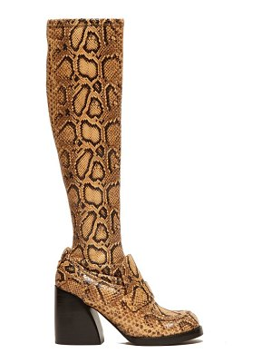 Chloe adelie python-effect leather knee-high boots