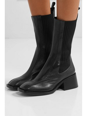 Chloe bea textured-leather chelsea boots