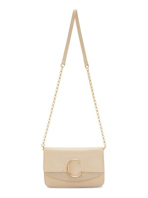 Chloe beige  c chain clutch bag