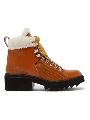Chloe bella shearling lined leather boots