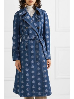 Chloe belted cotton-jacquard trench coat