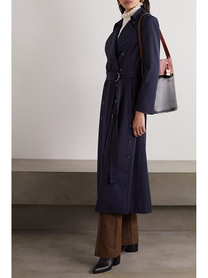Chloe belted double-breasted twill coat