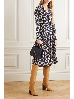 Chloe belted floral-print silk crepe de chine midi dress