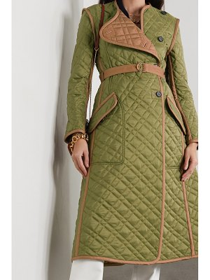 Chloe belted quilted shell coat