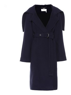 Chloe belted wool-blend coat