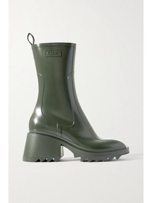Chloe betty logo-embossed rubber boots