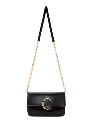Chloe black mini  c chain clutch