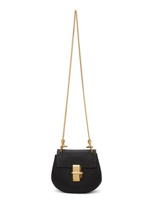 Chloe black mini drew bag