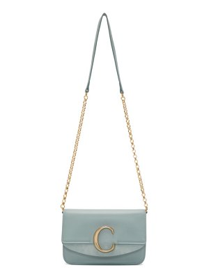 Chloe blue  c chain clutch bag