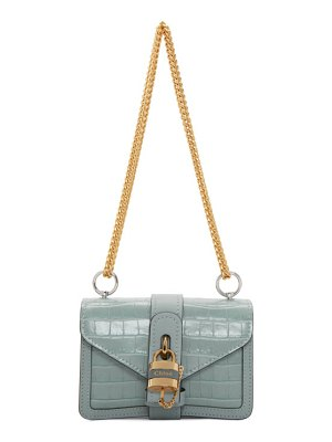 Chloe blue croc aby chain bag