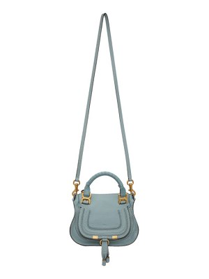 Chloe blue mini marcie bag