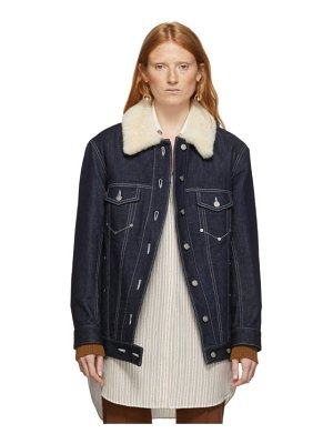 Chloe blue quilted denim jacket