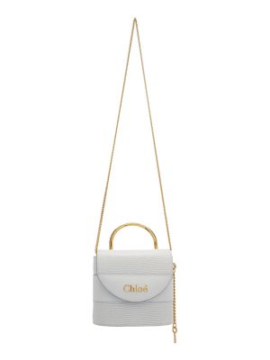 Chloe blue small aby lock chain bag