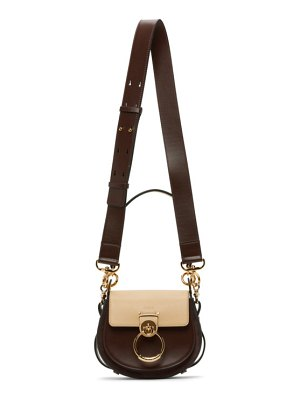 Chloe brown and beige small tess bag