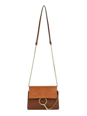 Chloe brown and orange mini faye bag