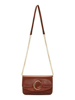 Chloe brown  c chain clutch bag