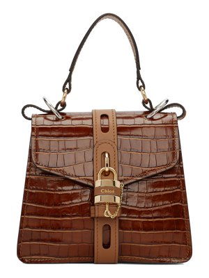 Chloe brown small aby day bag