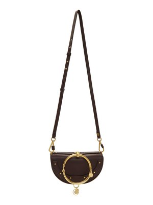 Chloe burgundy nile minaudiere bag