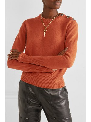 Chloe button-detailed cashmere sweater