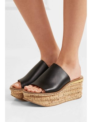 Chloe camille leather wedge sandals