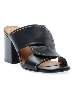 Chloe Candice Leather Slide Sandals