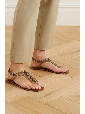 Chloe carla paneled leather sandals